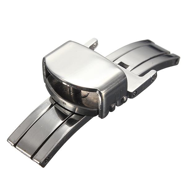 12 22mm Edelstahl Schmetterling Faltschließe Armband Buckle Uhrenwerkzeug