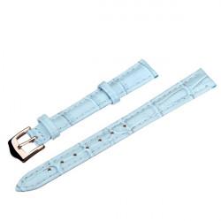 12mm 14mm 16mm 18mm 20mm PU Leder Blau Armbanduhr Band
