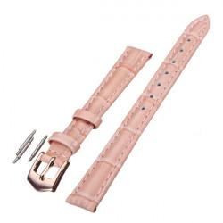 12mm 14mm 16mm 18mm 20mm PU Leder Rosa Armbanduhr Band