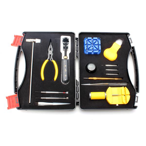 15stk Case Opener Link Spring Bar Fjerner Pincet Urmager Værktøj Sæt Urmager Værktøj