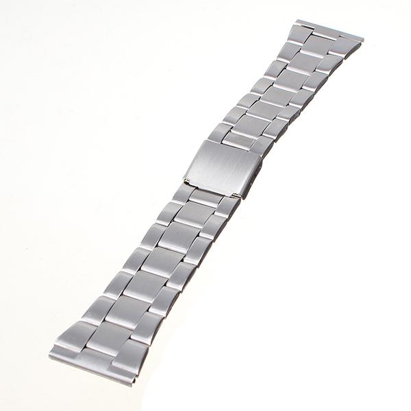 16-22mm Sølv Rustfrit Stål Rem Med Trykknap Urremme Urmager Værktøj