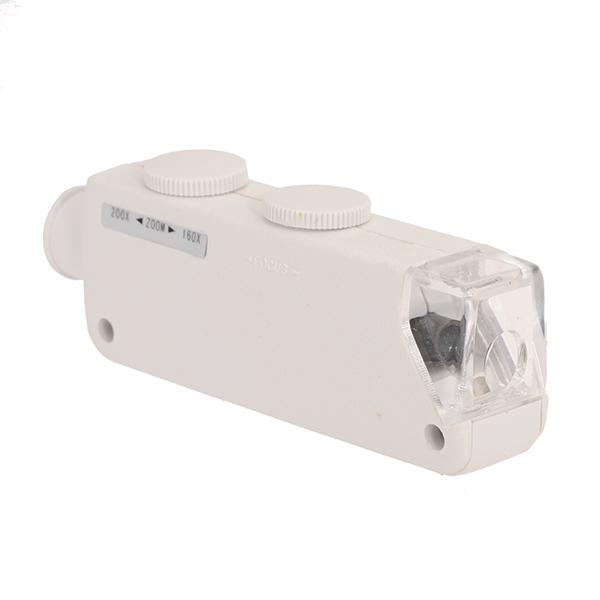 160x- 200x Zoom LED Mini Pocket Mikroskop Forstørrelsesglas MG10081-1A Urmager Værktøj