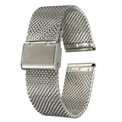 18mm 20mm 22mm Unisex Rostfritt Stål Chainmail Armband Band