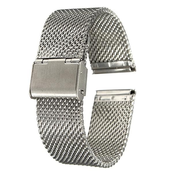 18mm 20mm 22mm Unisex Rustfrit Stål Kædemail Watch Strap Band Urmager Værktøj