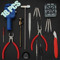 18stk Urmagere Værktøjskasse Set Case Remstiftværktøj