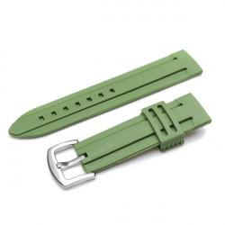 20mm 22mm 24mm Rubber Jelly Men Women Mental Wrist Watch Band