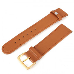 20mm Black Brown PU Leather Men Women Mental Wrist Watch Band