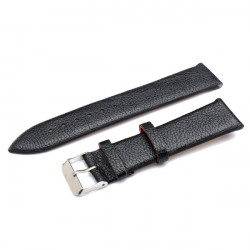 20mm PU Leather Men Women Mental Wrist Watch Band