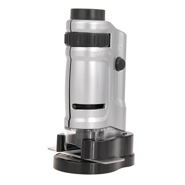 20x-40x Zoom LED Mini Pocket Microscope Magnifier MG10081-8 Watch Tools