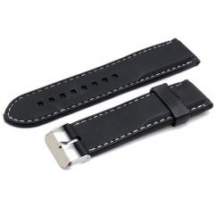 22mm 24mm 26mm Rubber Men Women Mental Wrist Watch Band