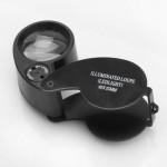 40X LED Eye Juvelerare Förstoringsglas Förstoring Lupp Urmakeriverktyg