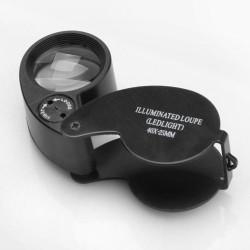 40X LED Eye Juvelerare Förstoringsglas Förstoring Lupp