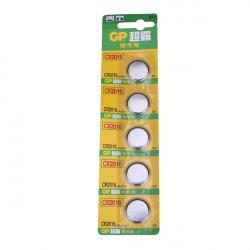 5PCS GP CR 2016 Cell Button Coin Battery Watch 3V Calculator