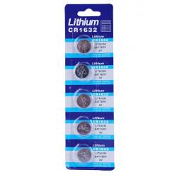 5st Litium CR 1632 Knappcellsbatteri Klocka 3V