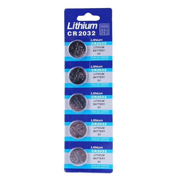 5st Lithium CR 2032 Knappcellsbatteri Klocka 3V Leksaker Calculator Urmakeriverktyg