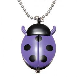 6 Color Cute Ladybug Necklace Chain Pocket Quartz Pendant Watch Clock