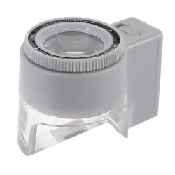 8X LED Brændvidde Justerbar Reading Pocket Scale Forstørrelsesglas Lup Glass