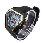 ALIKE AK1054 Sport LED Waterproof Dual Display Rubber Men Wrist Watch Watch