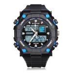 ALIKE AK1275 Sport LED Waterproof Multifunction Rubber Men Wrist Watch Watch