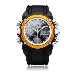 GLEICH AK7110 Sport schwarze runde Gegenlicht Männer Frauen Quarz Armbanduhr