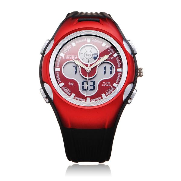GLEICH AK8115 Sport schwarze runde Gegenlicht Damen Herren Armbanduhr Uhren