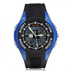 LIKA E7111 Sport LED Vattentät Multifunction Herr Quartz Armbandsur
