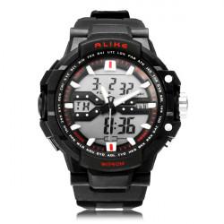 Unter gleichen Bedingungen AK1282 Sport Datum Chronograph Rücklicht Schwarz Mann Armbanduhr