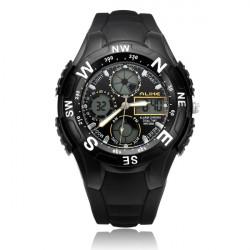Alike AK6106 Sport Alarm Military Back Light Black Men Wrist Watch