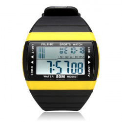 Unter gleichen Bedingungen AK6116 Sport Big Zifferblatt Datum Rectangle Light Schwarz Mann Armbanduhr