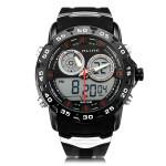 Alike AL111 Sport Alarm Military Back Light Black Men Wrist Watch Watch