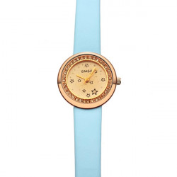 BMBO Women Rhinestone Slim Leather Star Fshion Watch