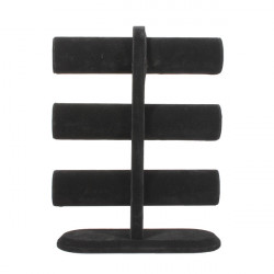Black Velvet Bangle Watch Stand Box Case 3 Tier Rack