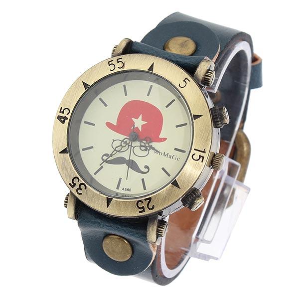 Bronze Star Hut Brille Schnurrbart Uhr Uhren