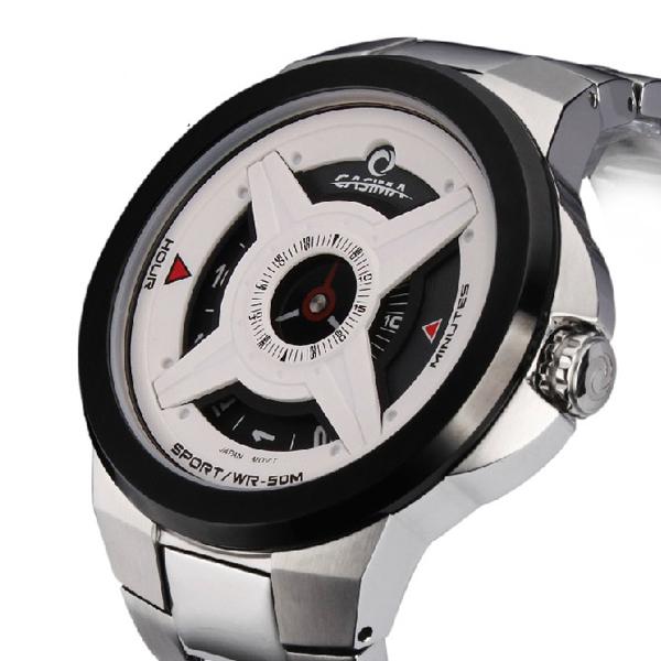CASIMA 8208 Mann Sport Wasserdicht Schwarz Weiß Quarzuhr Uhren