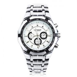 CURREN 8084 Silver Stainless Steel Big Dial Men Quartz Wrist Watch