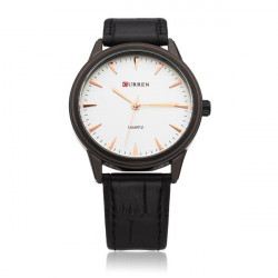 CURREN 8119 White Black Fashion Men Wrist Quartz Watch
