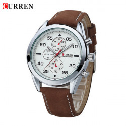 CURREN 8156 PU Leather Band Waterproof Sport Watch