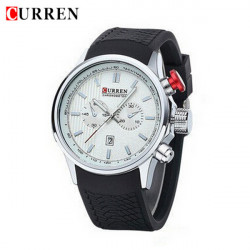 CURREN 8175 Silicone Band Date Live Waterproof Sport Watch