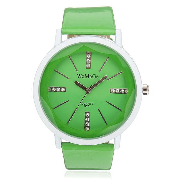 Süßigkeit Farben Kristall Leder Armbanduhr Uhren