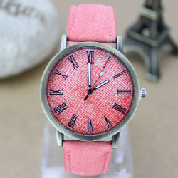 Casual Jean Band Roman Number Women Men Wrist Watch