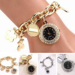 Chain Rhinestone Stainless Steel Bracelet Wrist Watch Watch
