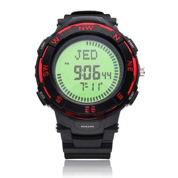 Compass Sport Alarm Wandern Weltzeit große Zifferblatt Mann Armbanduhr Uhren