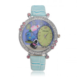 Crystal Pärlor Tecknade Harts Armbandsur