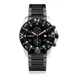 Curren 8038 Black Stainless Steel Date Calendar Men Wrist Watch