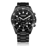Curren 8039 Schwarz Edelstahl Datum Kalender Runde Mann Armbanduhr Uhren