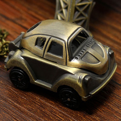Söt Vintage Car Shape Quartz Kedjan Fickur