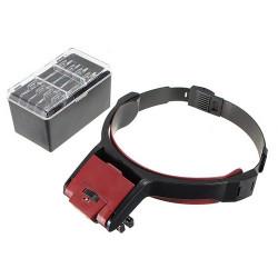 Abnehmbare 4 Glaslinse 3.5x Loop Head Band VISIER LED Licht Vergrößerungs