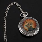 ELK Emaille Pendent Taschenuhr mit Kette für Geschenk Uhren