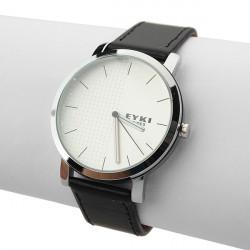 EYKI Brief Læder Analog Mode Quartz Lovers Armbåndsur