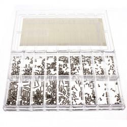 Brillen beobachten Sortierte Schrauben Reparatur Werkzeug